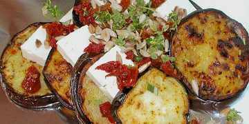 Auberginen-Zucchini-Fetapäckchen