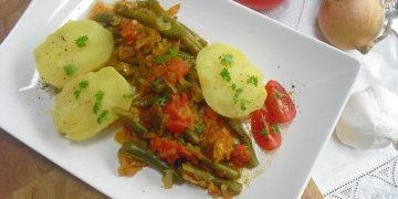 Bohnen - Tomaten - Gemüse