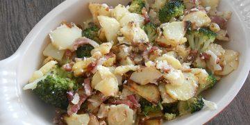 Brokkoli - Kartoffel - Auflauf mit Speck
