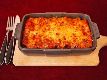 Cannelloni mit Grünkohl-Hack-Füllung