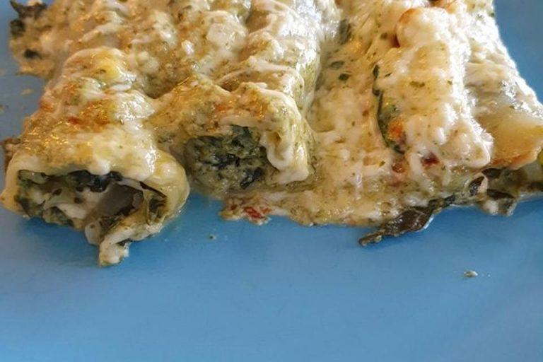 Cannelloni mit Spinat - Feta - Füllung