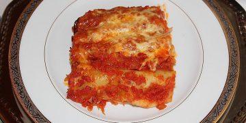 Cannelloni mit Tomaten-Hackfleisch-Füllung