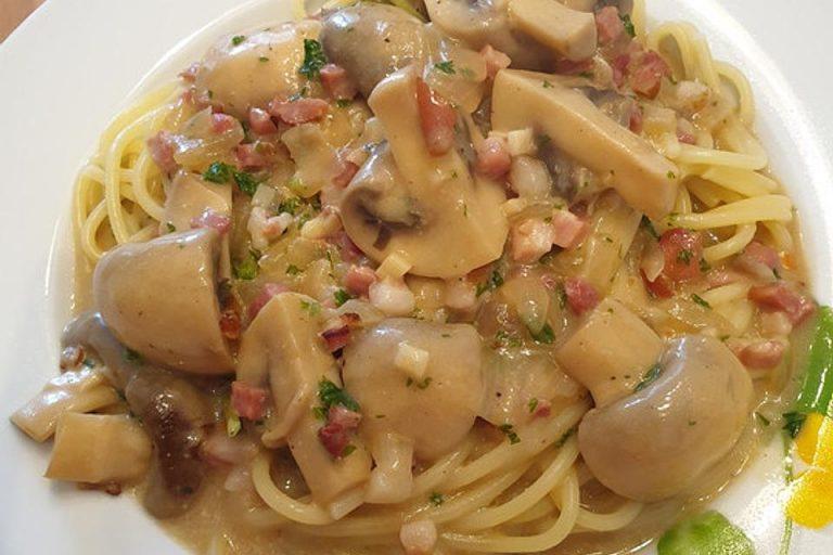 Champignon-Spaghetti