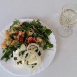 Couscous-Rucola-Salat mit Ofenfeta