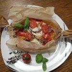 Gemüsepäckchen mit Mozzarella