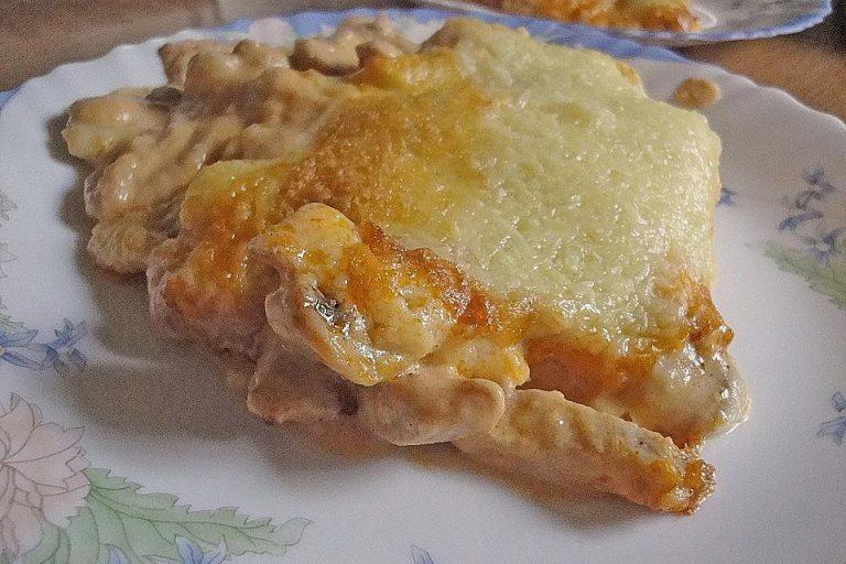 Geschnetzeltes mit Kartoffelbrei überbacken