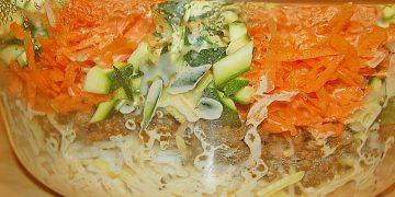 Hackfleisch - Gemüse - Auflauf mit Reis