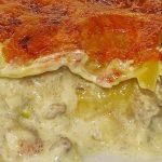 Kartoffel - Lasagne mit Porree