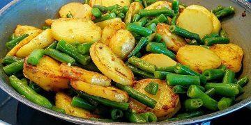 Kartoffelcurry mit grünen Bohnen