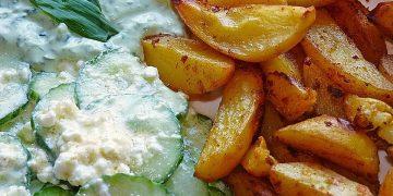 Kartoffelspalten aus dem Ofen