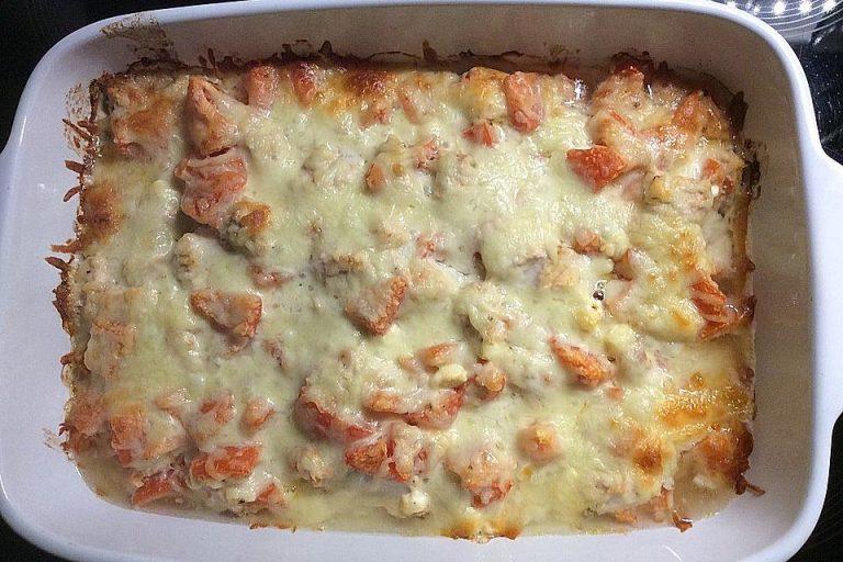 Knoblauch-Käse-Huhn