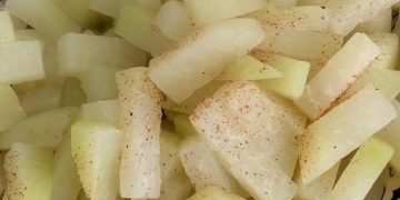 Kohlrabigemüse in Butter