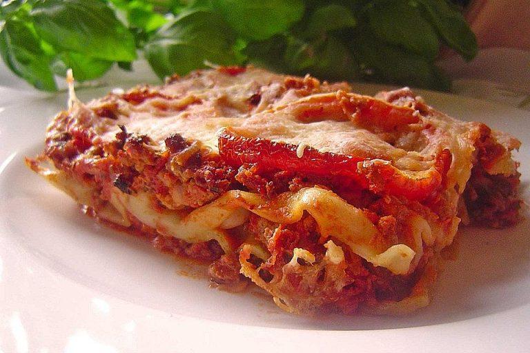 Lasagne mit Crème fraîche