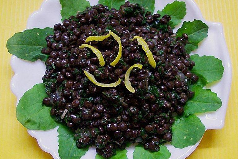 Linsensalat mit Schwarzkümmel