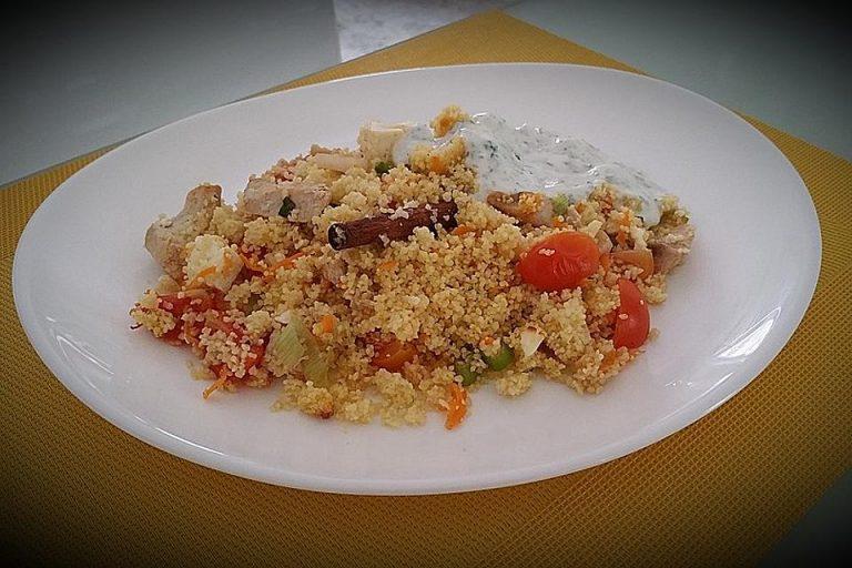 Marokkanischer Couscous-Auflauf