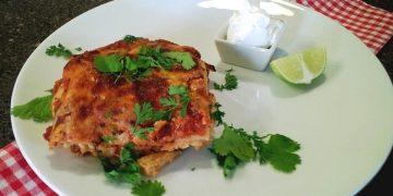 Mexikanische Beef Lasagne
