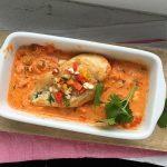 Ofen-Hähnchen-Schnitzel mit Paprika und Feta