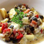 Paprika - Auberginen - Gemüse mit Gorgonzola