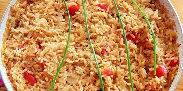 Paprika - Reispfanne mit Pute
