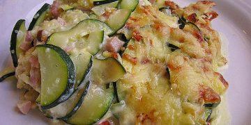 Polenta-Zucchini-Auflauf