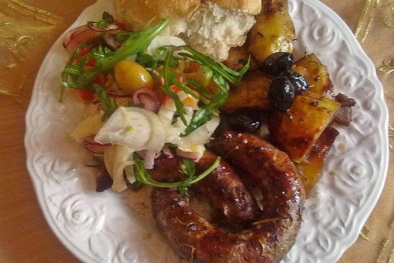 Salsiccia al Forno con Patate
