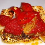 Schafskäse mit Tomaten aus dem Ofen