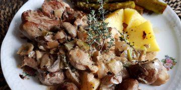 Schweinefilet mit Champignon - Rahm - Soße