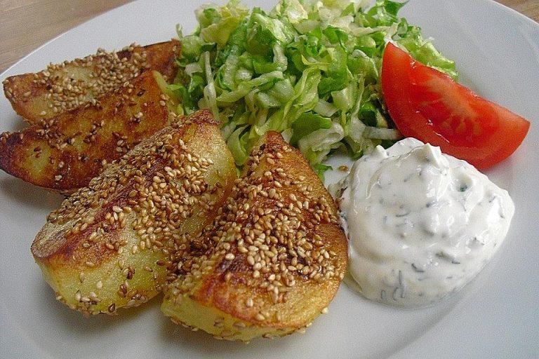Sesamkartoffeln