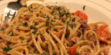 Spaghetti Carbonara ohne Ei