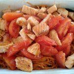 Spaghetti mit Lachs und Kirschtomaten