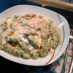 Spinatspätzle in Käse - Champignon - Sahnesoße