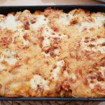 Tortellinigratin mit Tomaten-Sahnesoße