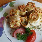 Überbackene Tortilla-Schnecken