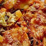 Vegetarischer Gnocchi-Kürbis-Lauch-Auflauf