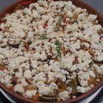 Zucchinipfanne mit Feta überbacken