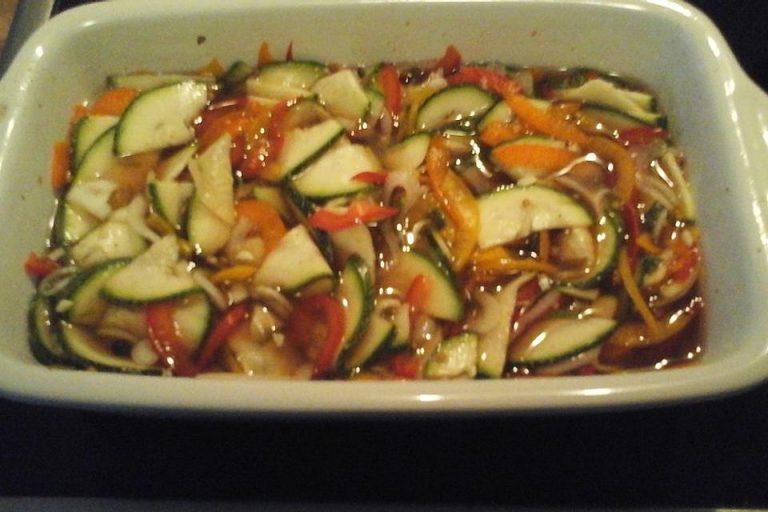 Zucchinisalat süß - sauer